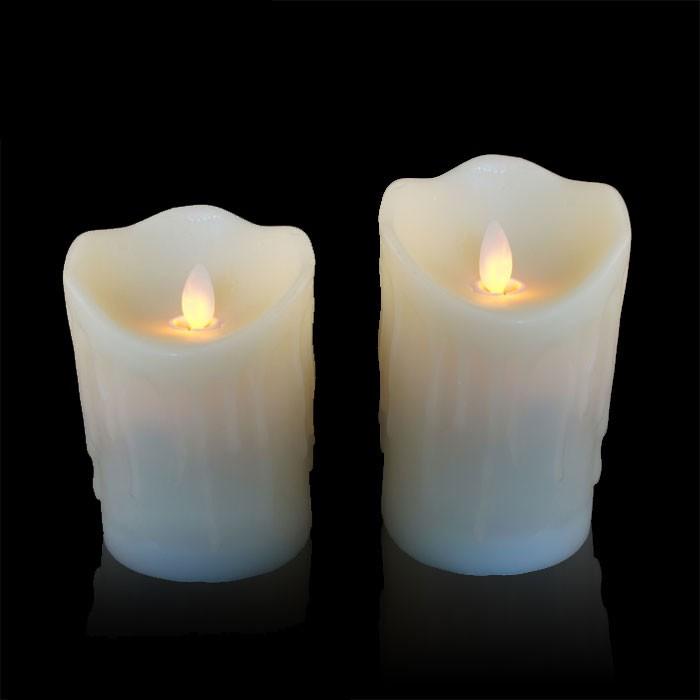 bougie led flamme vacillante avec coulures. Black Bedroom Furniture Sets. Home Design Ideas