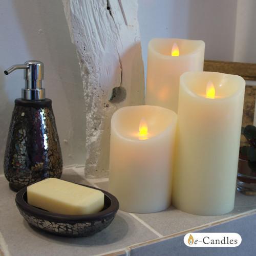 bougie led flamme vacillante 12 5 cm. Black Bedroom Furniture Sets. Home Design Ideas