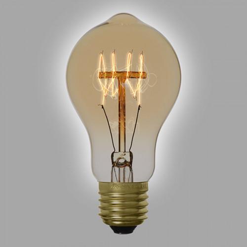 Ampoule vintage décoration Miami 60mm, 60W, E27