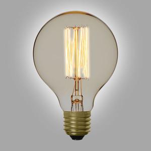 Ampoule vintage décoration Portland 80mm, 60W, E27