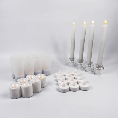 Pack bougies Fêtes - Blanc