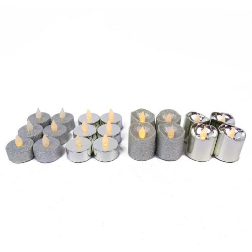 Pack de 20 bougies argentées