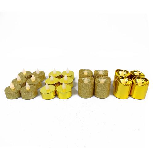 Pack de 20 bougies dorées