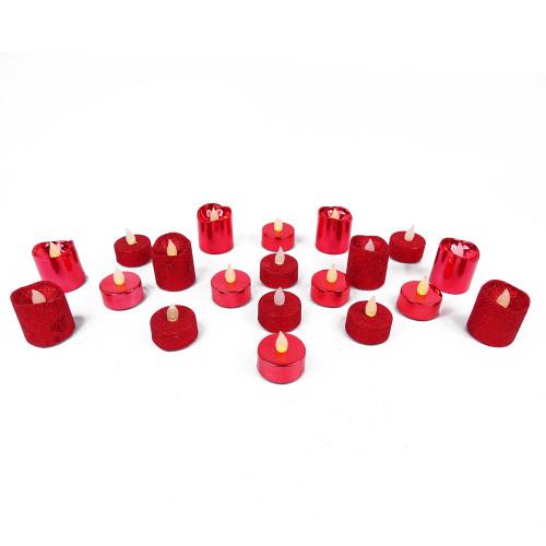 Pack de 20 bougies rouges