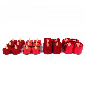 Pack Bougies Fêtes - Rouge
