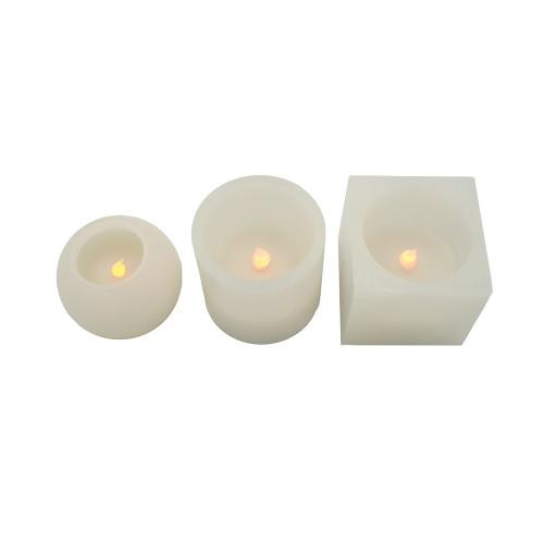 Pack 3 grosses bougies formes multiples