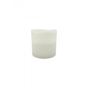 Bougie pilier en cire 15 cm - bord ondulé