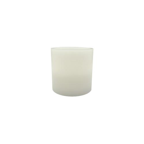 Bougie pilier en cire 15 cm - bord plat