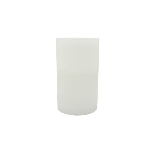 Bougie pilier en cire 25 cm - bord plat