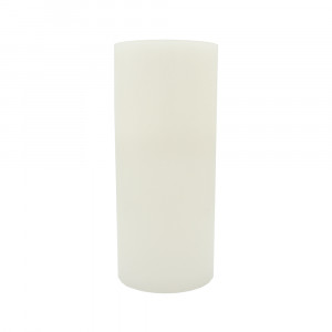 Bougie pilier en cire 35 cm - bord plat