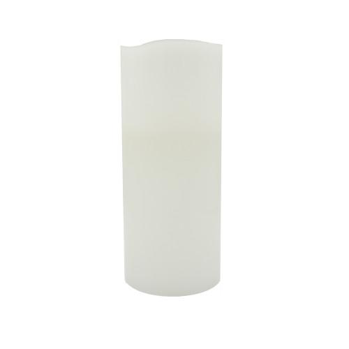 Bougie pilier en cire 35 cm - bord ondulé