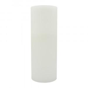 Bougie pilier en cire 40 cm - bord plat
