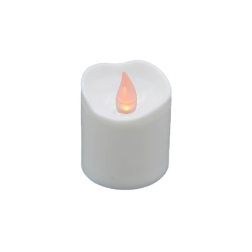 Lot de 6 bougies Led votives blanches