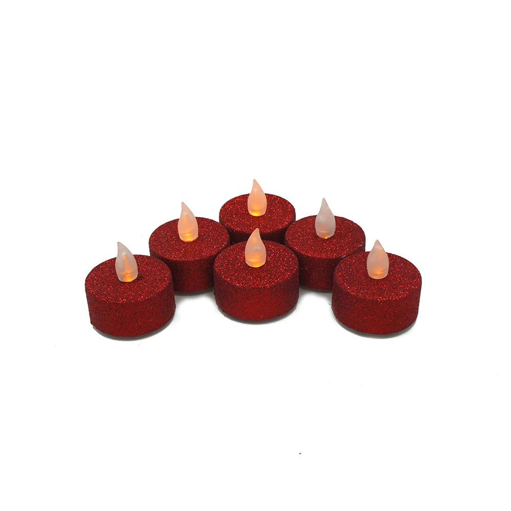 bougies chauffe plat paillettes rouge. Black Bedroom Furniture Sets. Home Design Ideas