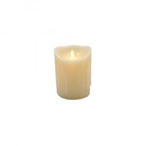 Bougie Led flamme vacillante avec cire coulante 9x12.5cm