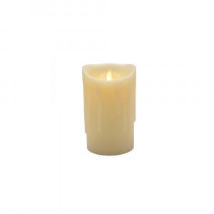 Bougie Led flamme vacillante avec cire coulante 9x15cm
