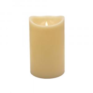 Grosse bougie Led flamme vacillante cire ivoire 15x25cm