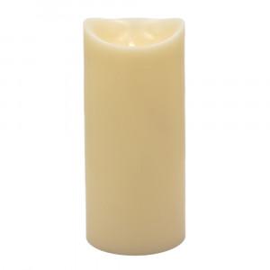 Grosse bougie Led flamme vacillante cire ivoire 15x33cm