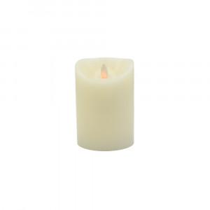 Bougie ivoire en cire à led flamme vacillante, hauteur 12,5 cm