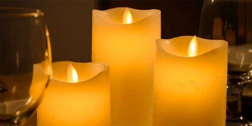 Bougies à flamme oscillante