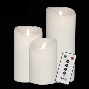 bougies led flamme vacillante. Black Bedroom Furniture Sets. Home Design Ideas