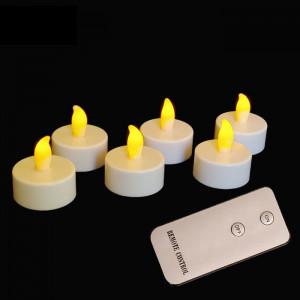 Bougies led chauffe-plat télécommande couleur ambre
