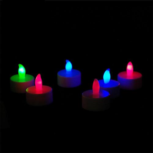 Bougies multicolores led chauffes-plats télécommandées - par 6