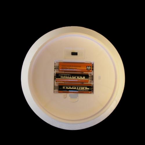 Bougie pilier en cire 30 cm - bord plat