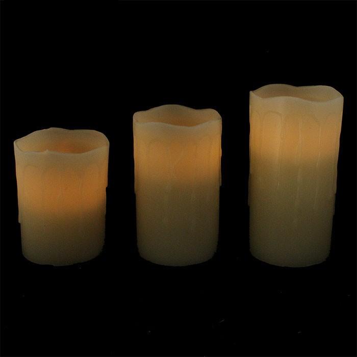 3 bougies led pas cher avec t l commande. Black Bedroom Furniture Sets. Home Design Ideas