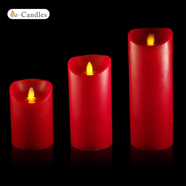 bougies rouge led flamme vacillante fonction timer. Black Bedroom Furniture Sets. Home Design Ideas