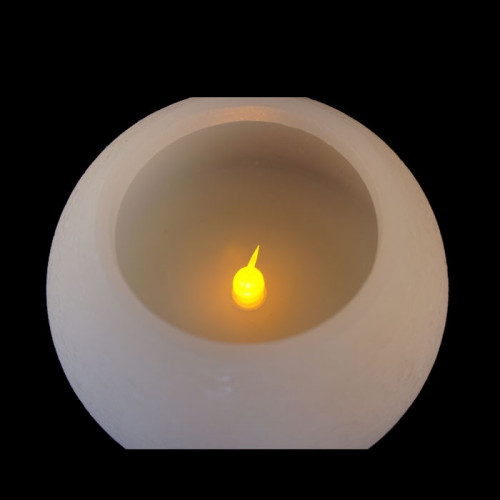 Bougie led sphère ouverte - 13cm