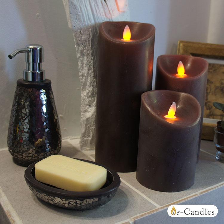 bougie led flamme oscillante 23cm. Black Bedroom Furniture Sets. Home Design Ideas