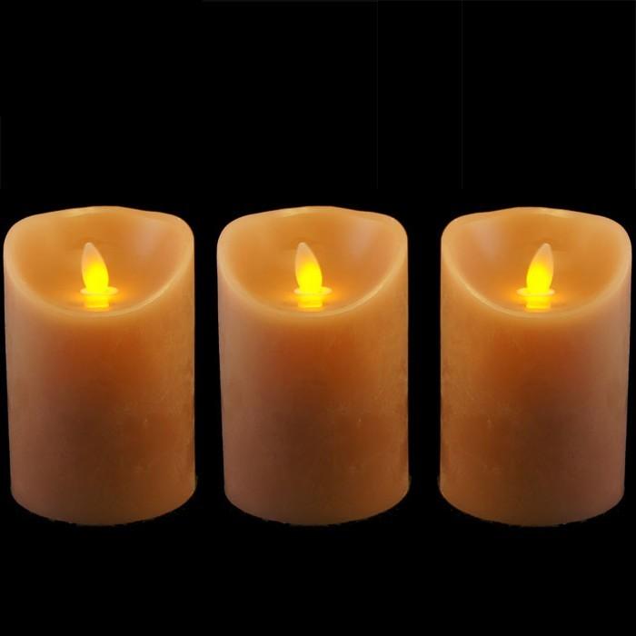 3 fausses bougies led vacillante couleur peau. Black Bedroom Furniture Sets. Home Design Ideas