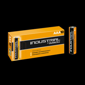 Pack de 10 piles AAA LR03 1,5 Volts Duracell Industrial