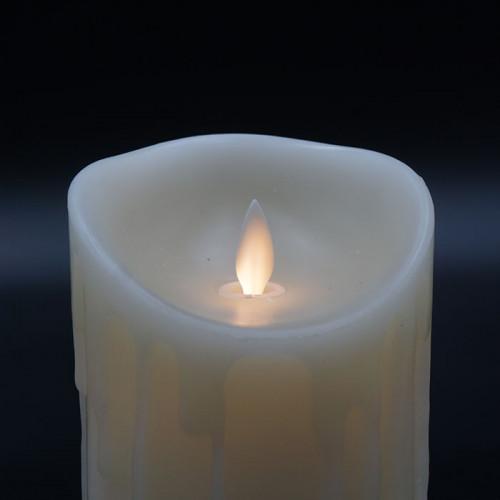 Bougie Led flamme vacillante avec cire coulante 9x18cm